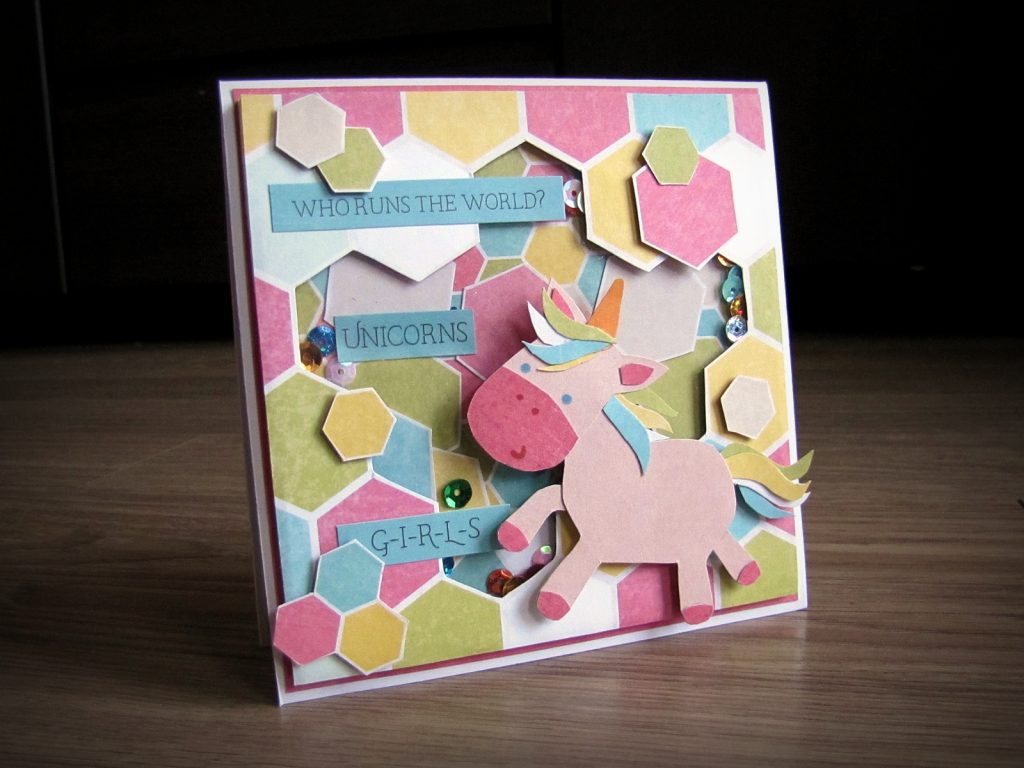kartka z jednorożcem - Angi Style - Piątek Trzynastego