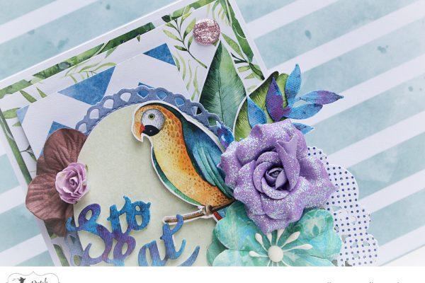 egzotyczna kartka urodzinowa