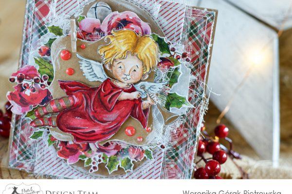 anielska kartka świąteczna