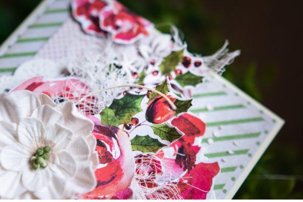 kartka pełna kwiatów