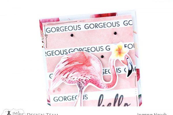 kartka z flamingiem