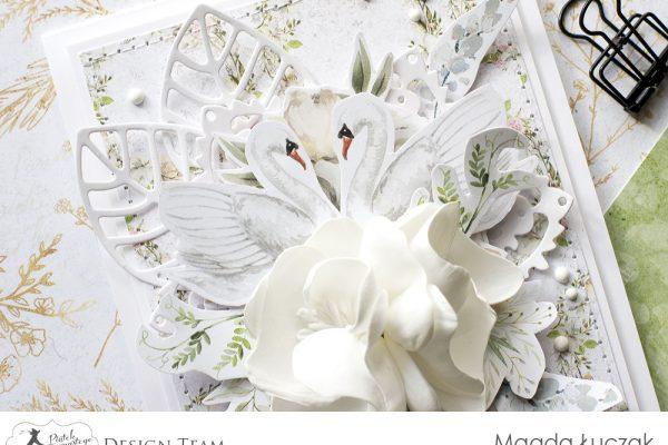 Kartka z łabędziami - A card with swans