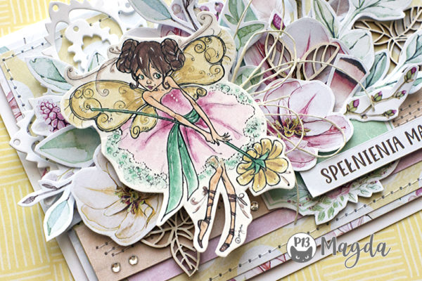 spring card with tag